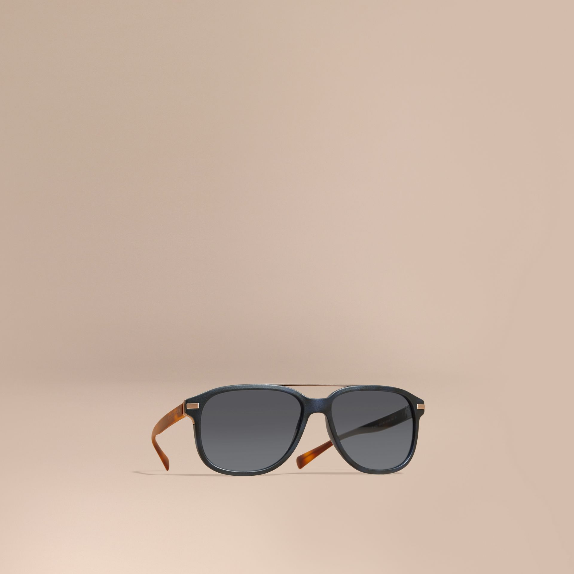 Square Frame Sunglasses Deep Blue - gallery image 1