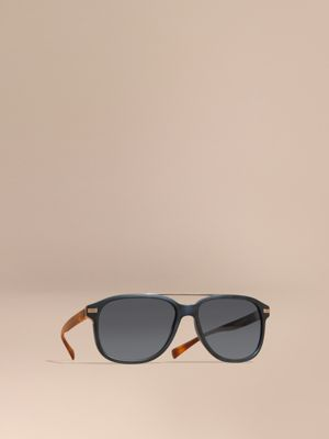 burberry blue sunglasses vrus  Square Frame Sunglasses Deep Blue