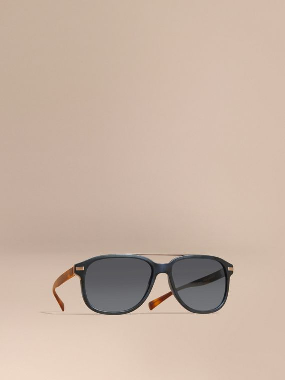 Square Frame Sunglasses Deep Blue