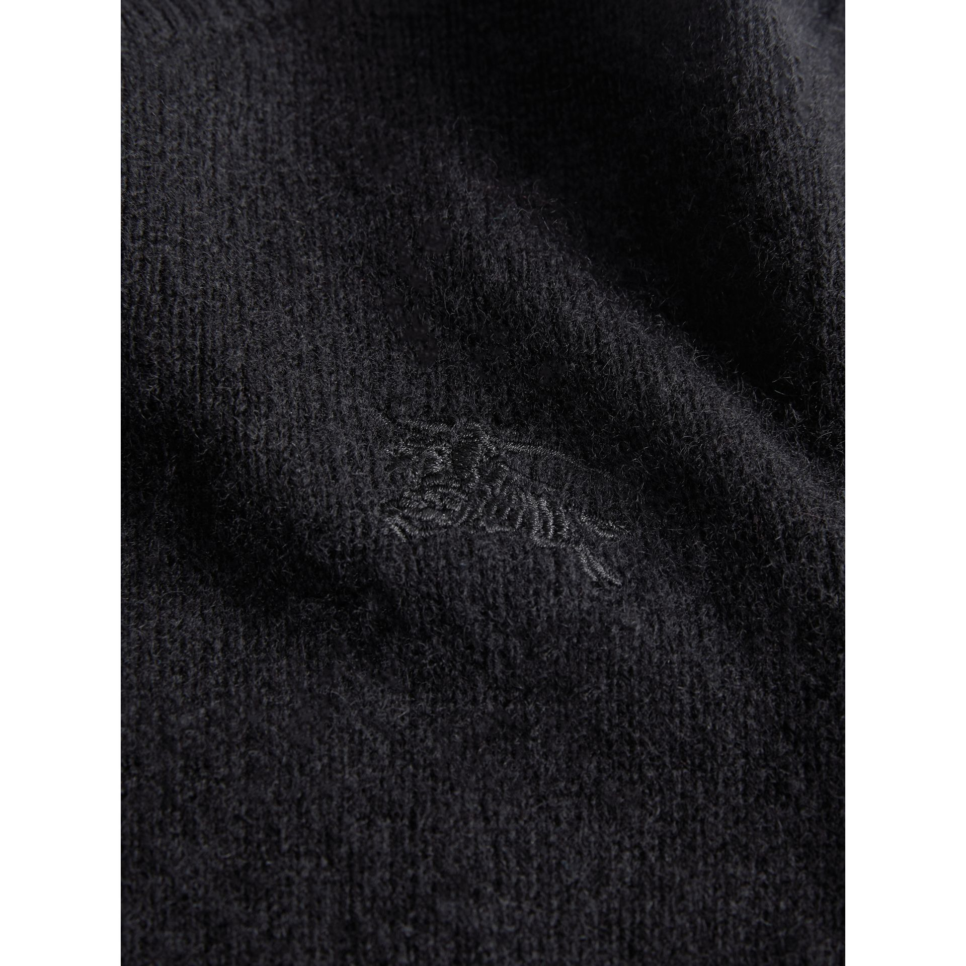 Check Elbow Patch Cashmere Sweater in Black - Boy | Burberry - gallery image 1