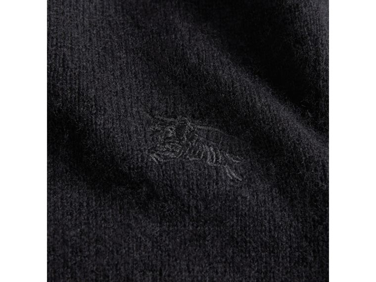 Check Elbow Patch Cashmere Sweater in Black - Boy | Burberry Singapore - cell image 1