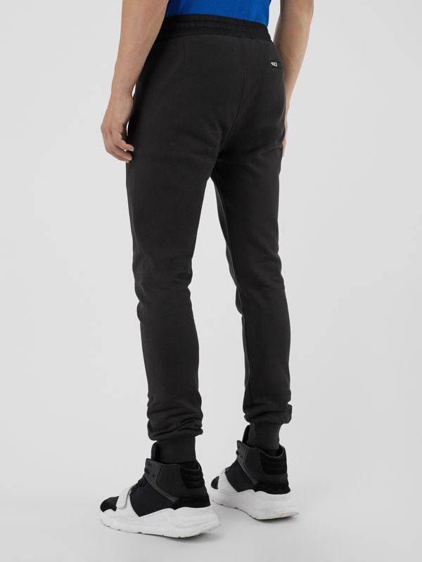 Cotton Sweatpants in Black - Men | Burberry Hong Kong - cell image 2