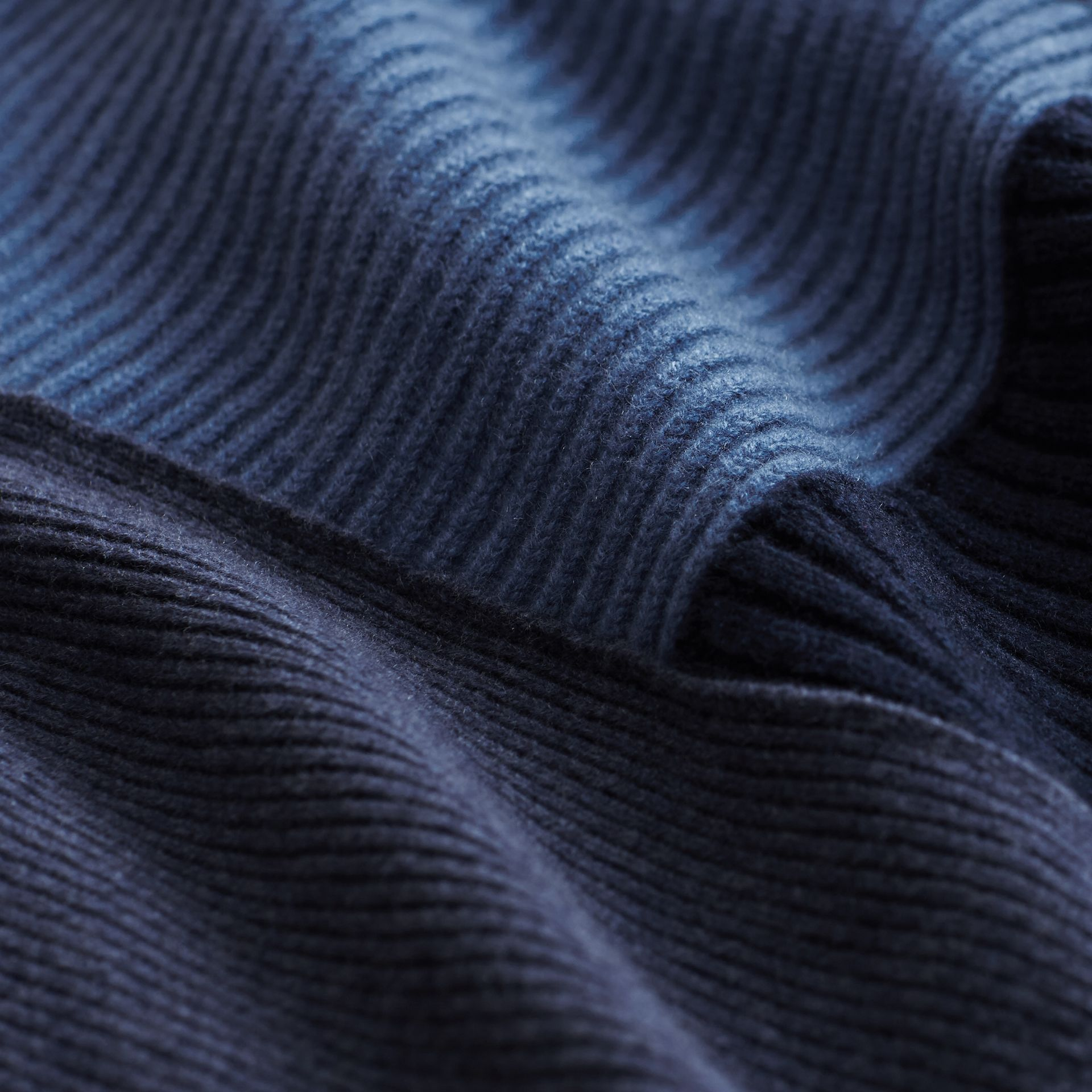Wool Cashmere Patchwork Poncho in Carbon Blue - Women | Burberry United Kingdom - gallery image 2