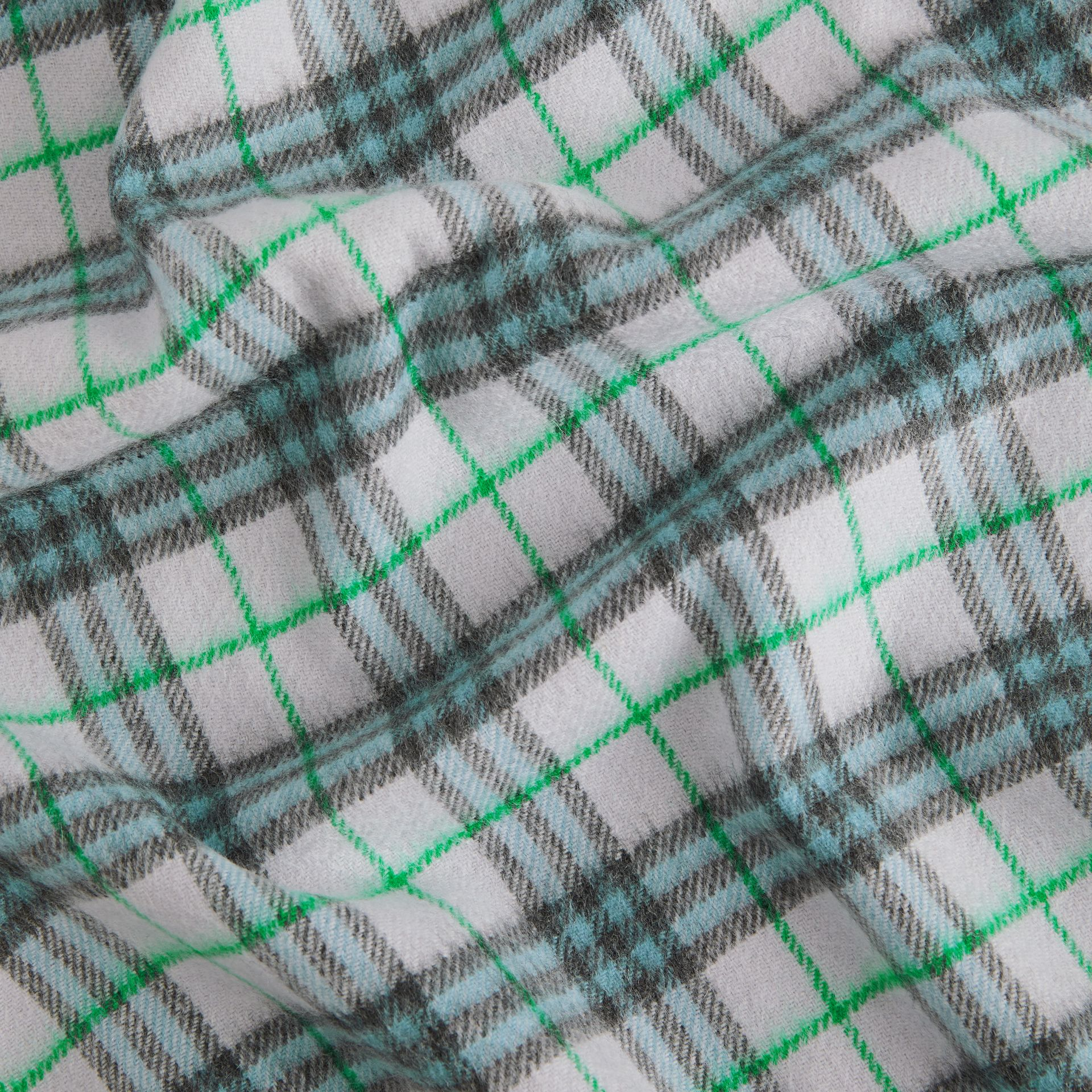 Check Cashmere Baby Blanket in Light Indigo - Children | Burberry United Kingdom - gallery image 1