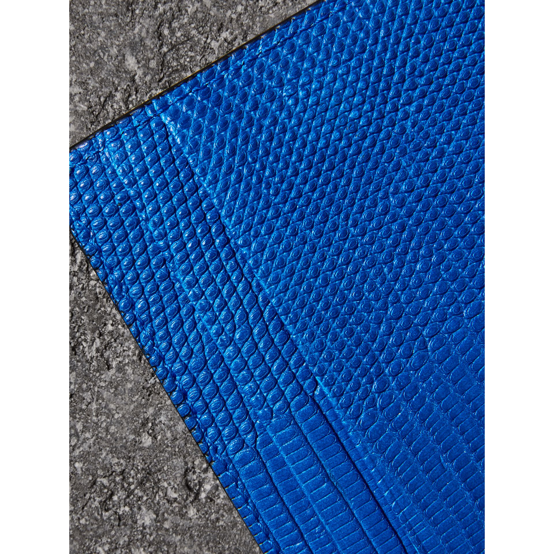 Lizard Card Case in Sapphire Blue | Burberry - gallery image 1