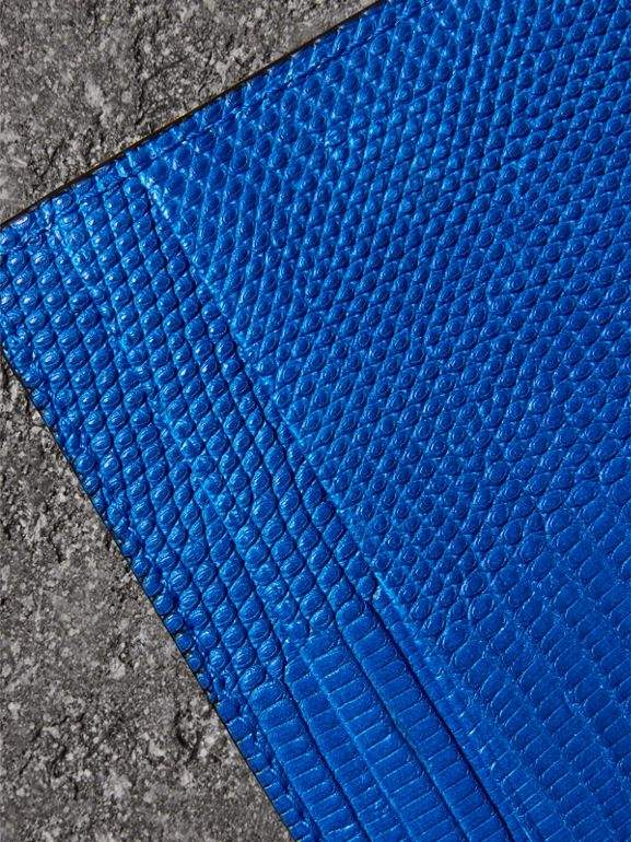 Lizard Card Case in Sapphire Blue | Burberry - cell image 1