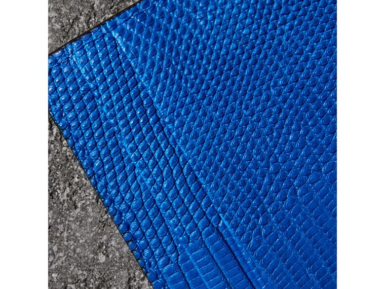 Lizard Card Case in Sapphire Blue | Burberry Australia - cell image 1