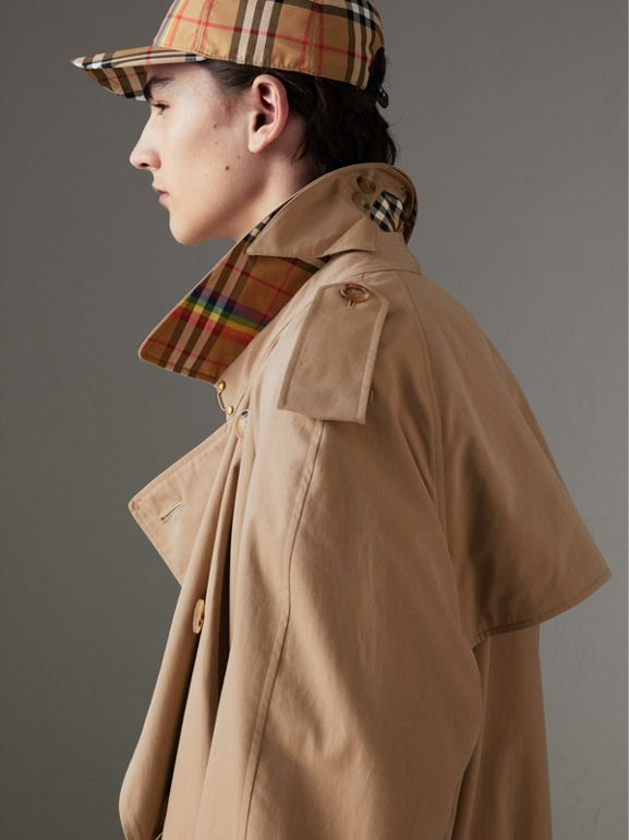 Trench coat en algodón de gabardina tropical (Miel) | Burberry - cell image 1