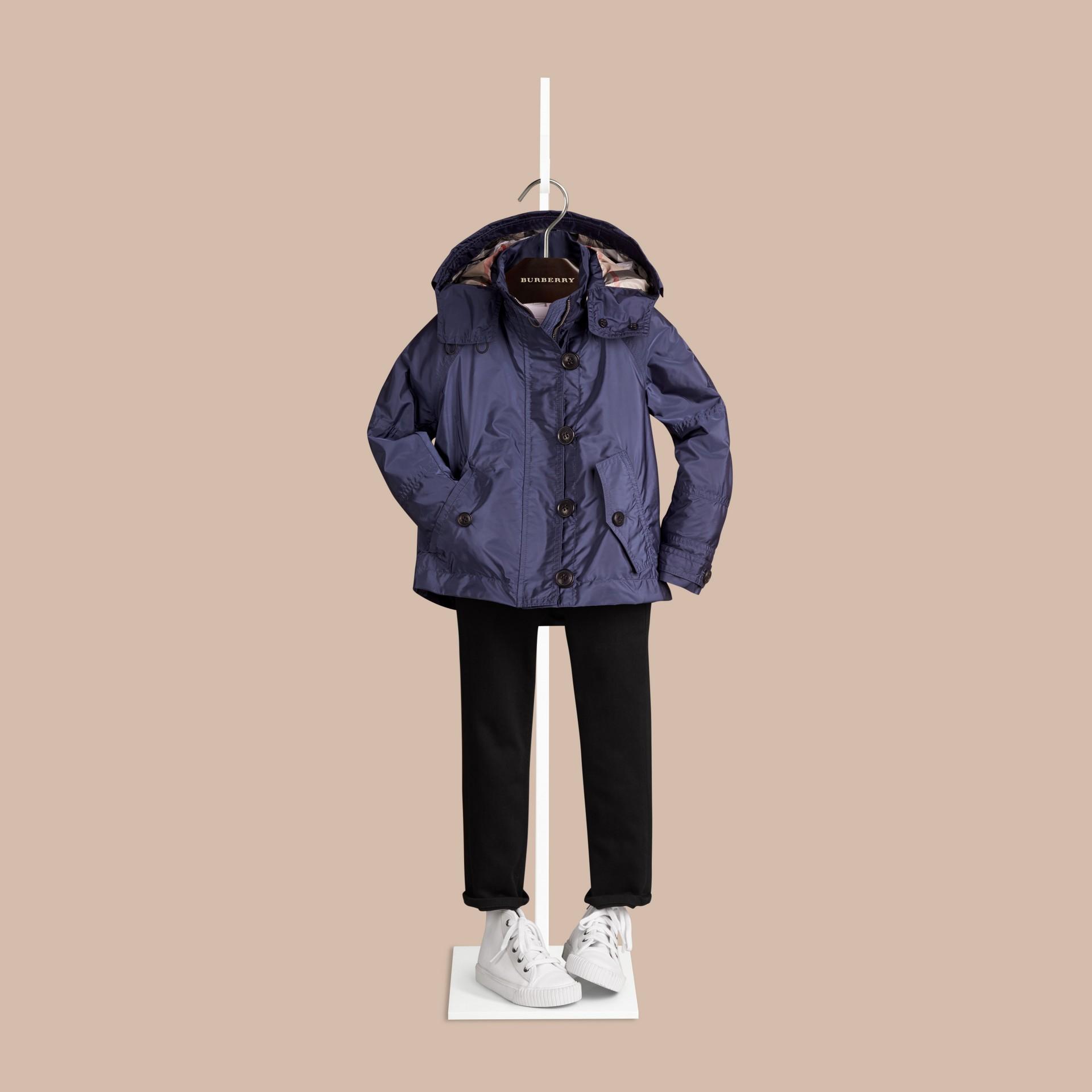 미드 인디고 후드 테크니컬 재킷 미드 인디고 - 갤러리 이미지 2