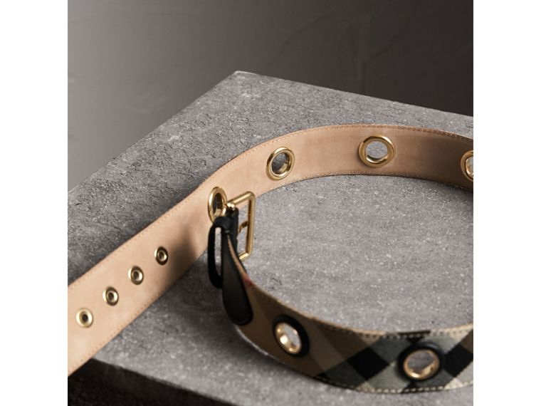 Eyelet Detail House Check Belt - Women | Burberry Australia - cell image 2