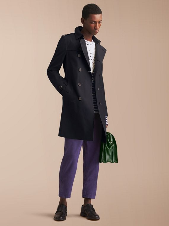 The Chelsea – Langer Heritage-Trenchcoat Marineblau