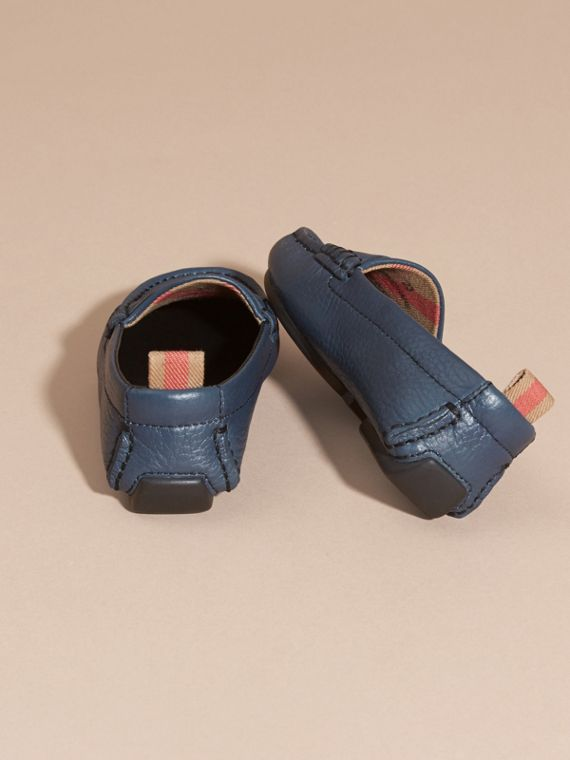 Dark mineral blue Leather Loafers - cell image 3