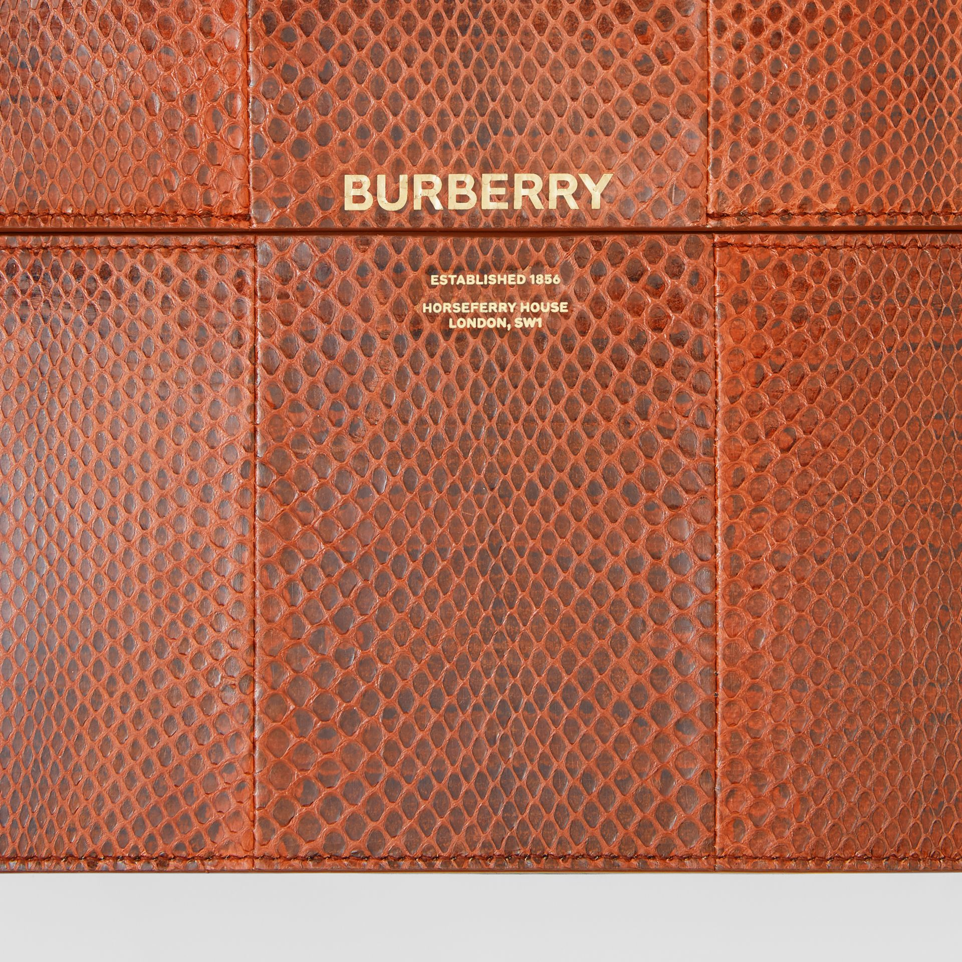 Large Snakeskin Grace Bag in Orange - Women | Burberry - gallery image 8