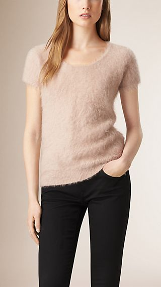 Brushed Cashmere Mohair T-Shirt