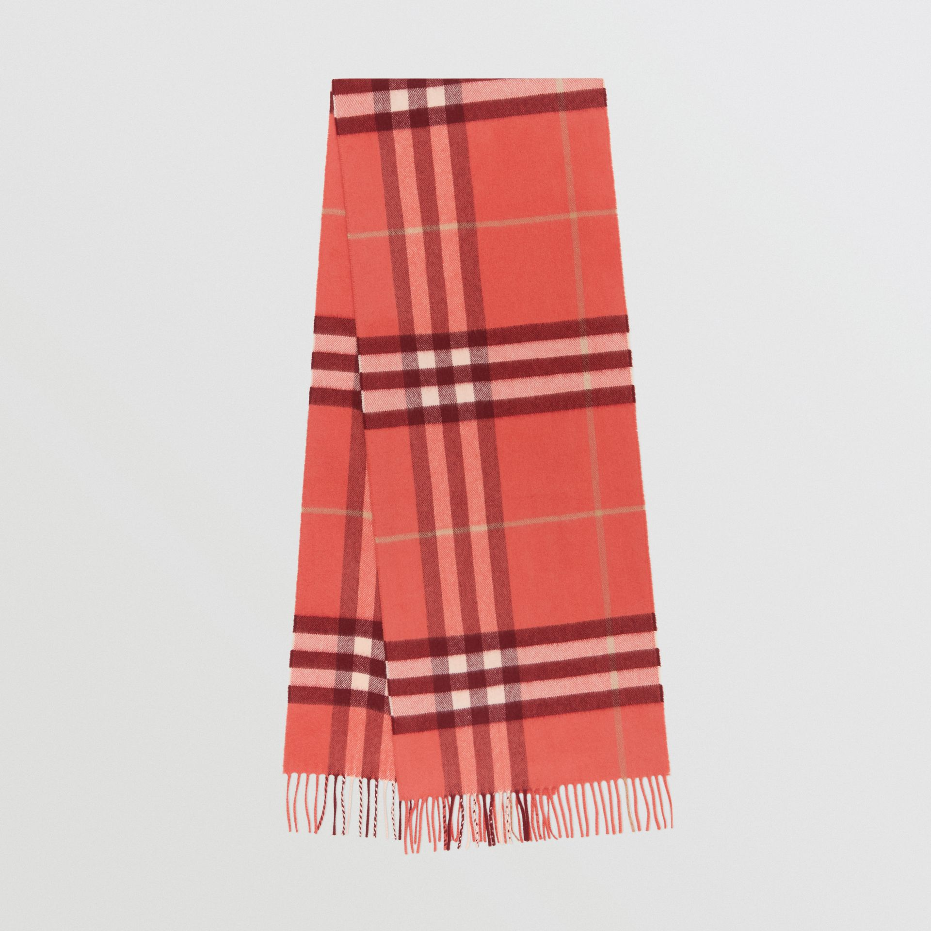 The Classic Check Cashmere Scarf in Clay Sienna | Burberry - gallery image 0