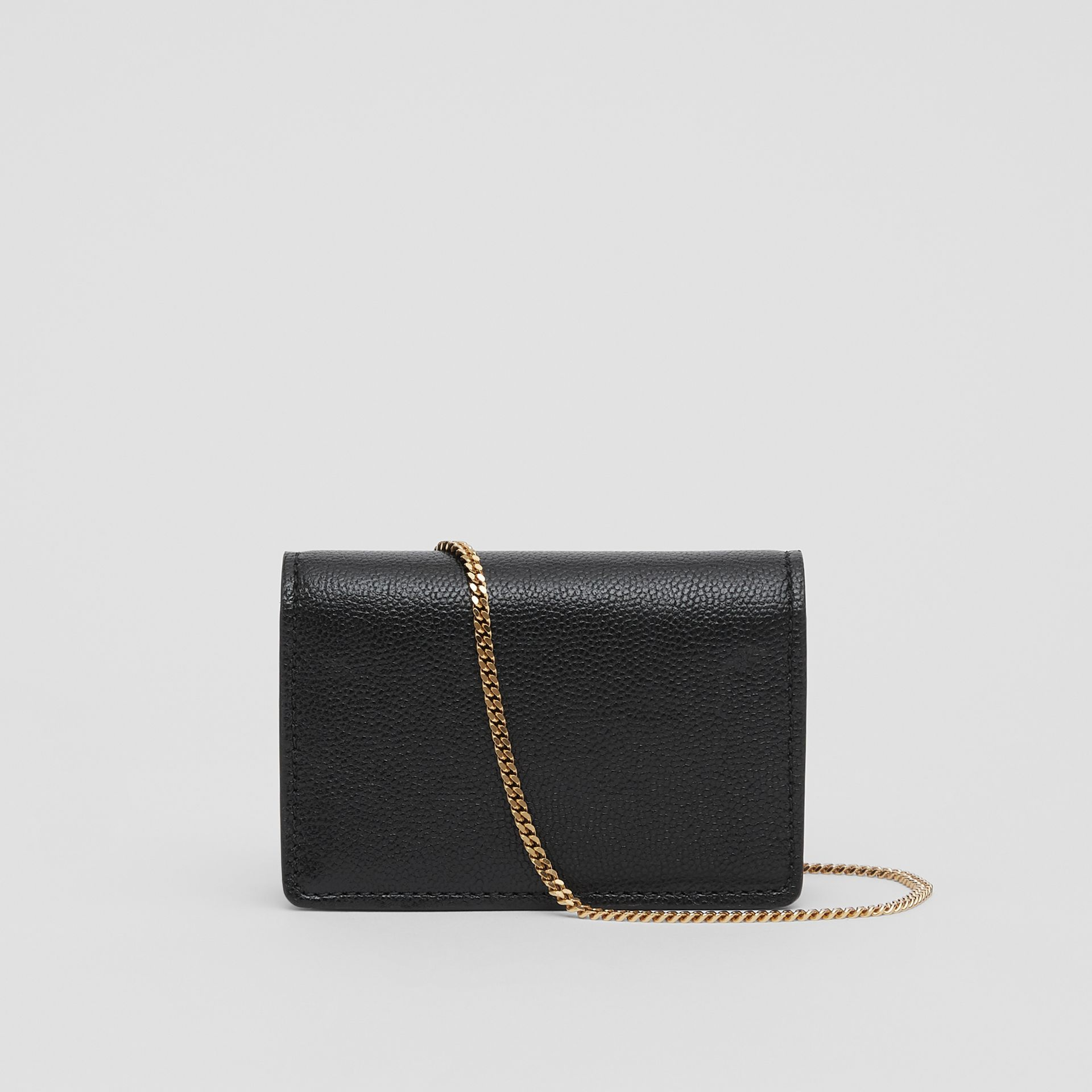 Grainy Leather Card Case with Detachable Strap in Black - Women | Burberry United Kingdom - gallery image 7