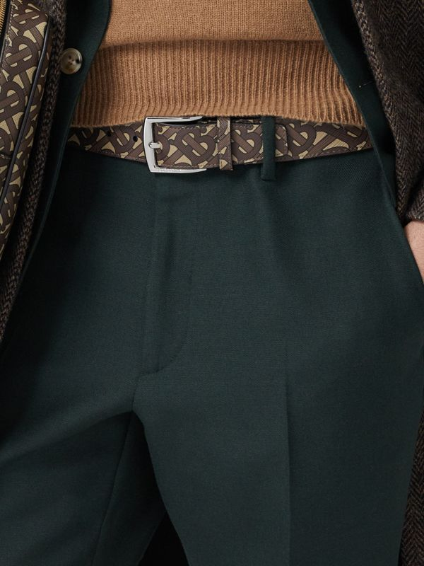 Monogram E-canvas Belt in Bridle Brown - Men | Burberry Singapore - cell image 2
