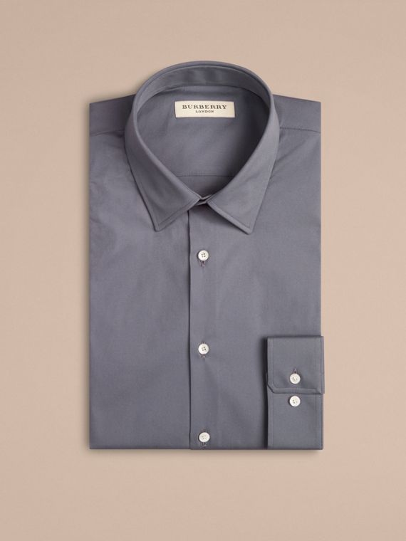 City grey Modern Fit Stretch Cotton Shirt City Grey - cell image 3