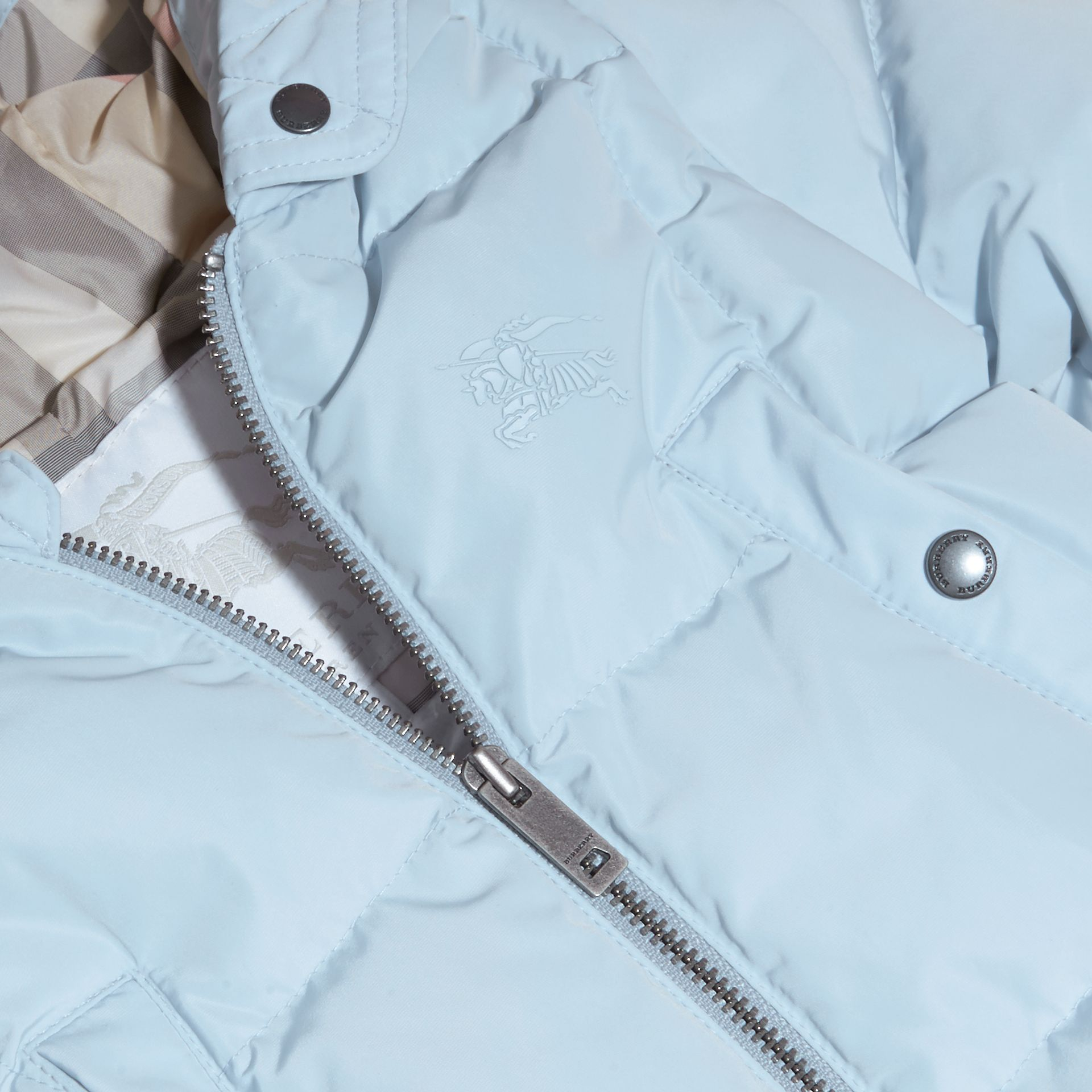 Ice blue Down-filled Puffer Suit Ice Blue - gallery image 2