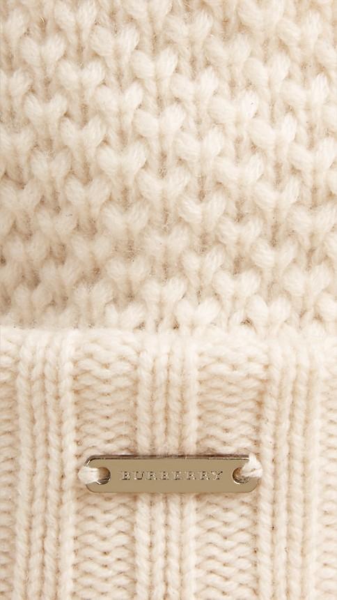 Ivory Fur Pom-Pom Beanie Ivory - Image 2