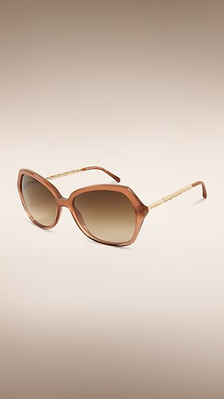 Gabardine Collection Oversize Square Frame Sunglasses