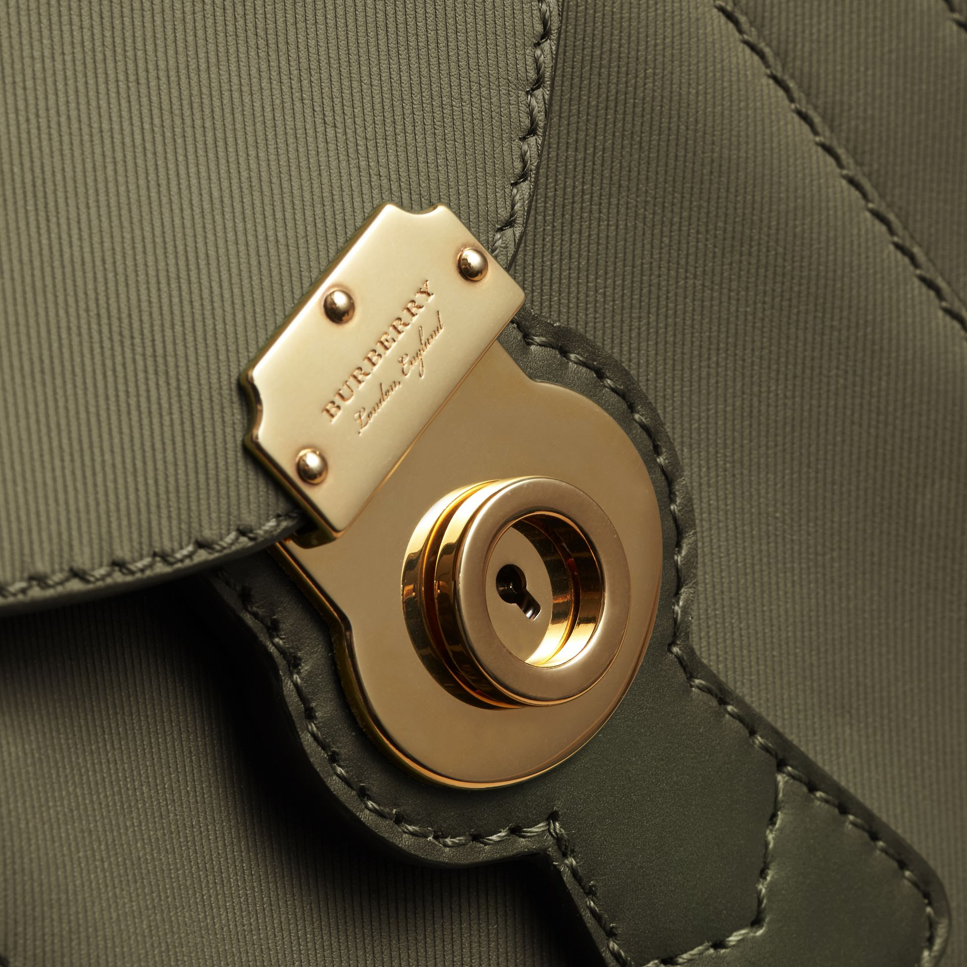 The Small DK88 Satchel in Moss Green - Men | Burberry United Kingdom - gallery image 2