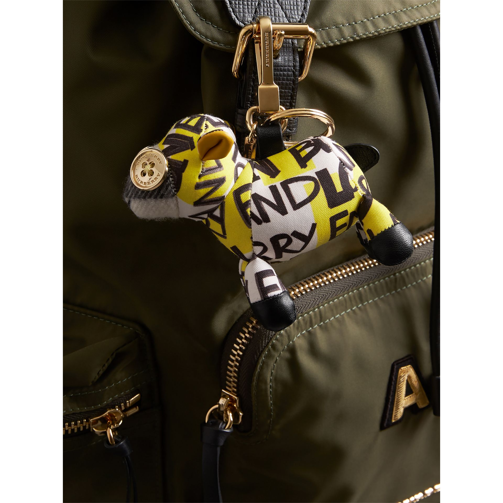 Wendy The Sheep Graffiti Print Cotton Charm in Yellow | Burberry - gallery image 2