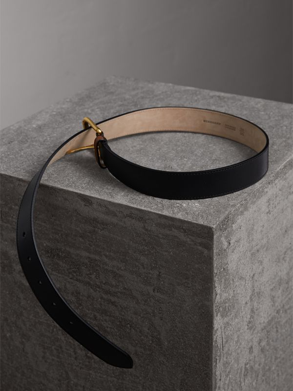 Two-tone Trench Leather Belt in Black - Men | Burberry - cell image 3