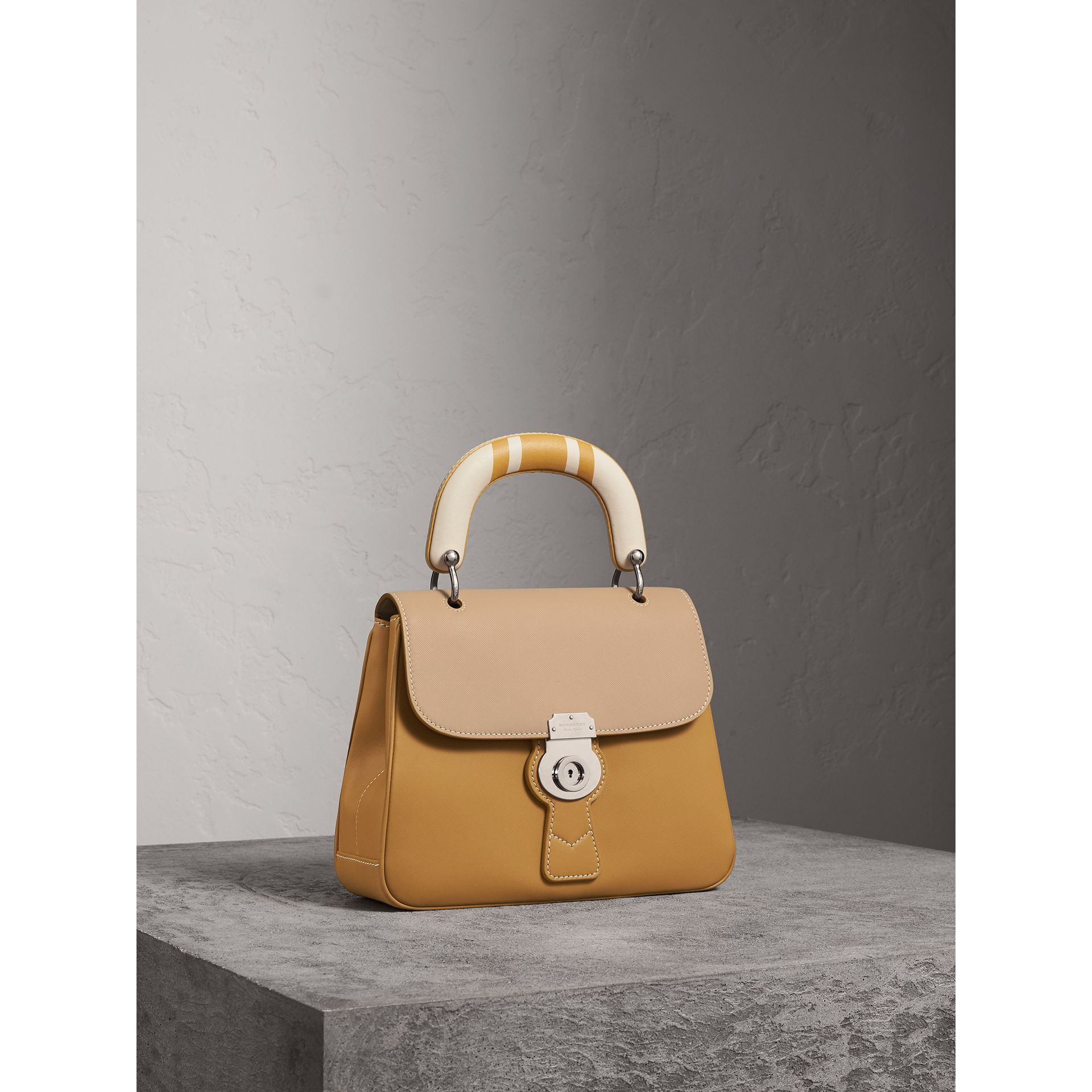 The Medium DK88 Top Handle Bag with Geometric Print in Ochre Yellow/honey - Women | Burberry - gallery image 7