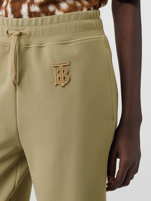 Monogram Motif Technical Trackpants in Camel - Women | Burberry - cell image 1