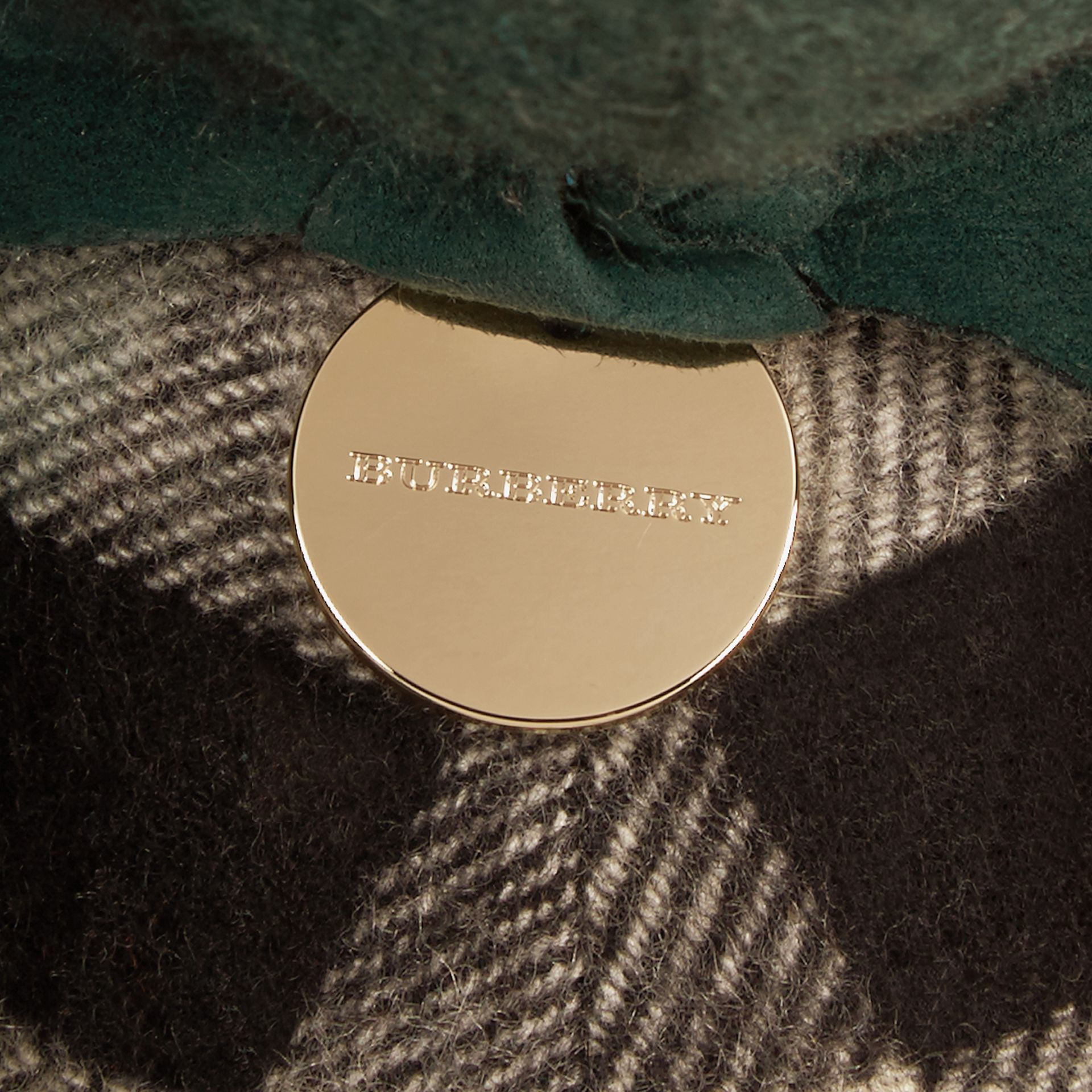 Thomas Bear in Check Cashmere in Dark Forest Green | Burberry - gallery image 1