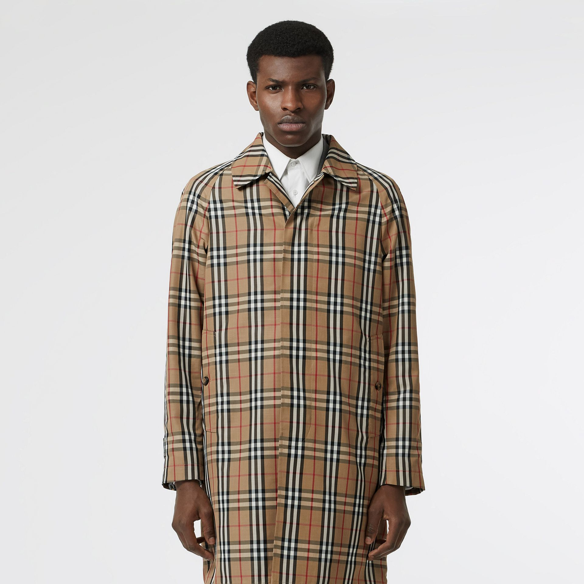 Vintage Check Car Coat in Archive Beige - Men | Burberry Australia - gallery image 6