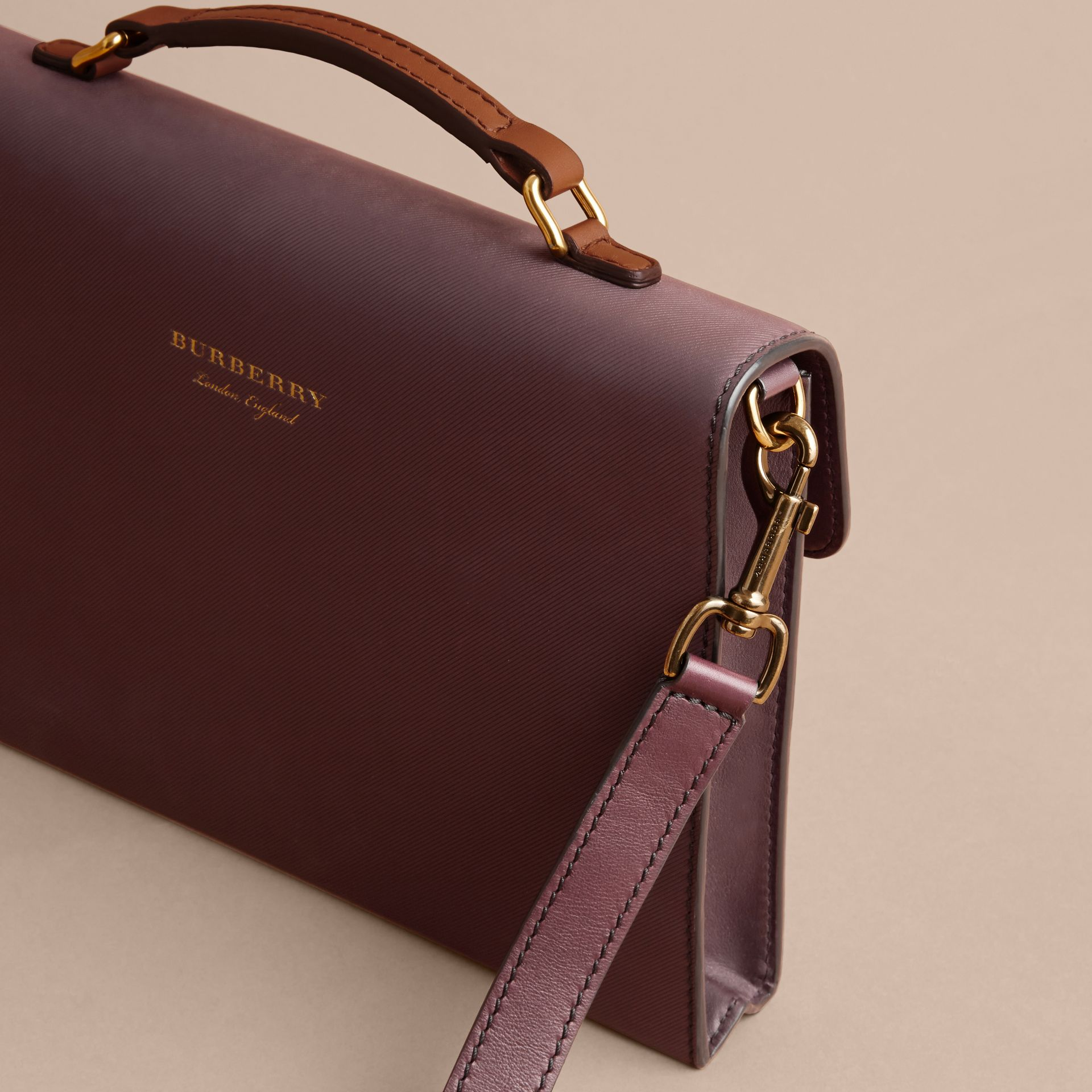 The DK88 Portfolio Case in Wine - Men | Burberry - gallery image 3