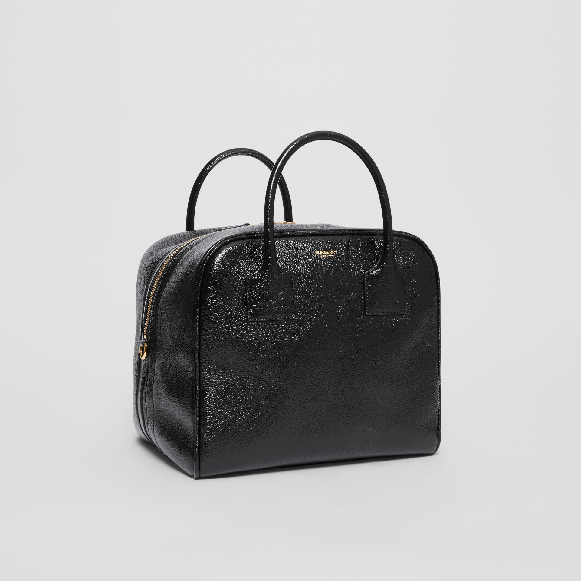 Medium Lambskin Cube Bag in Black - Women | Burberry Singapore - gallery image 6