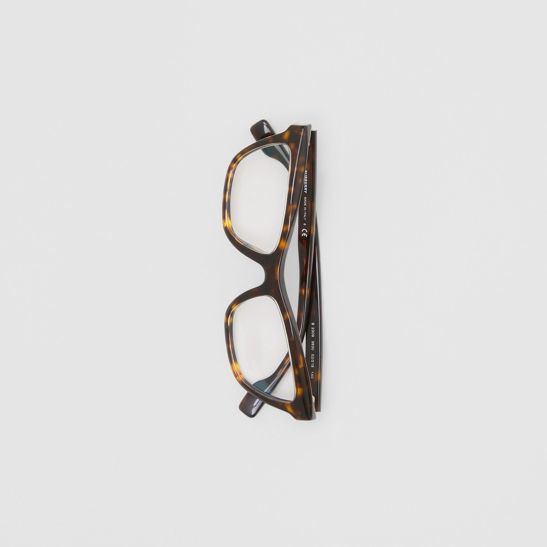 Monture rectangulaire pour lunettes de vue (Écaille  Tortue) - Femme | Burberry Canada - photo de la galerie 2