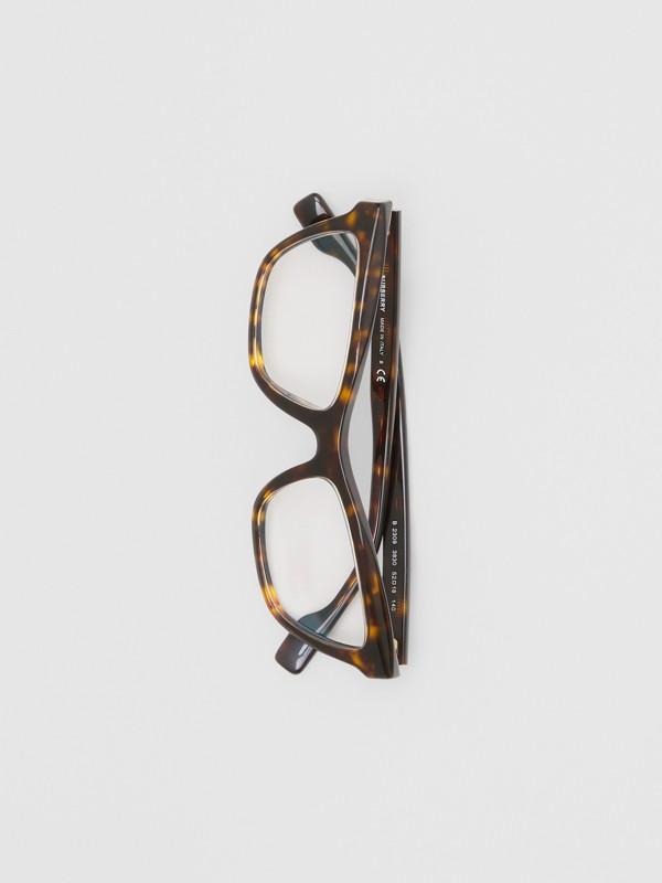 Monture rectangulaire pour lunettes de vue (Écaille  Tortue) - Femme | Burberry Canada - cell image 2
