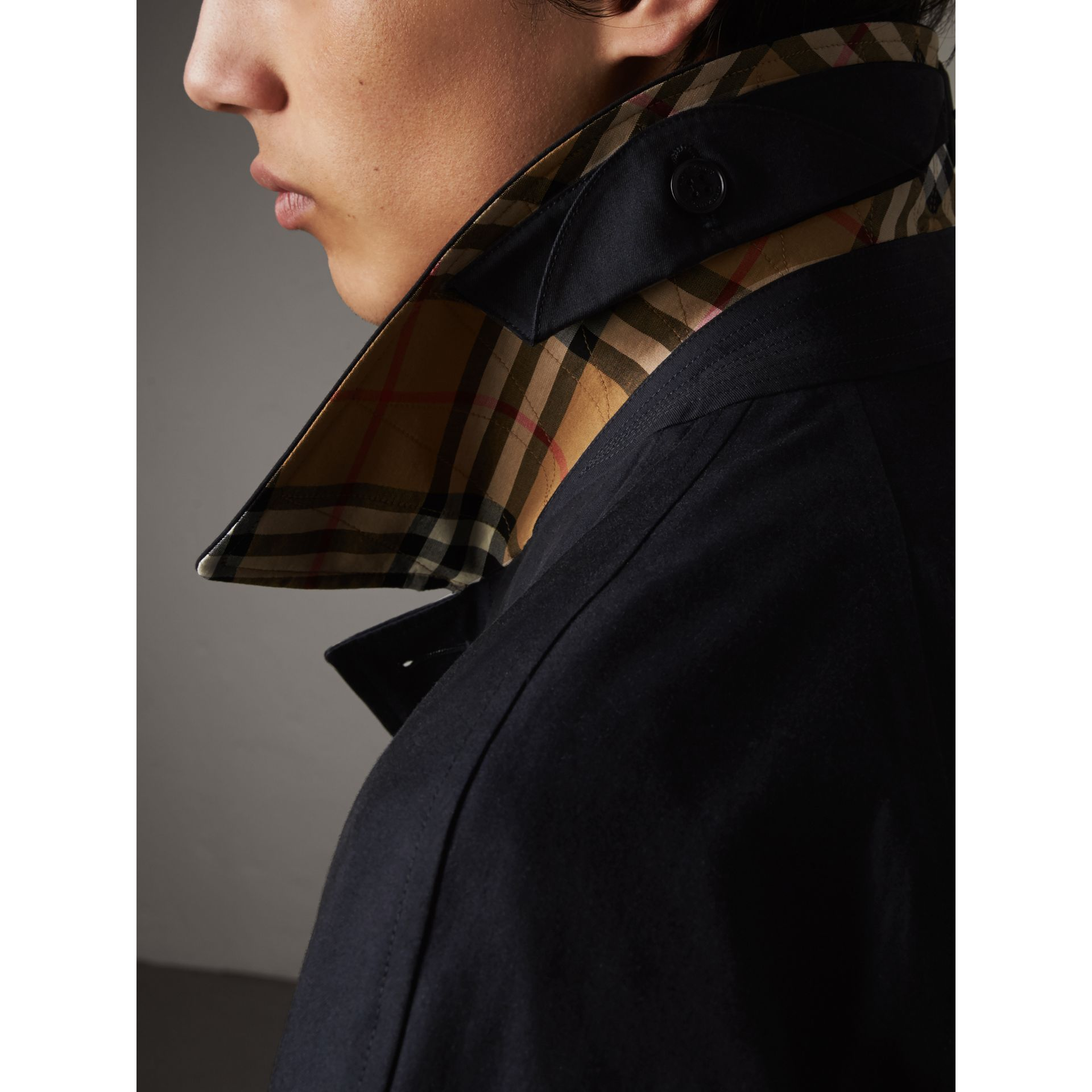 The Brighton – Longline Car Coat in Blue Carbon - Men | Burberry - gallery image 2
