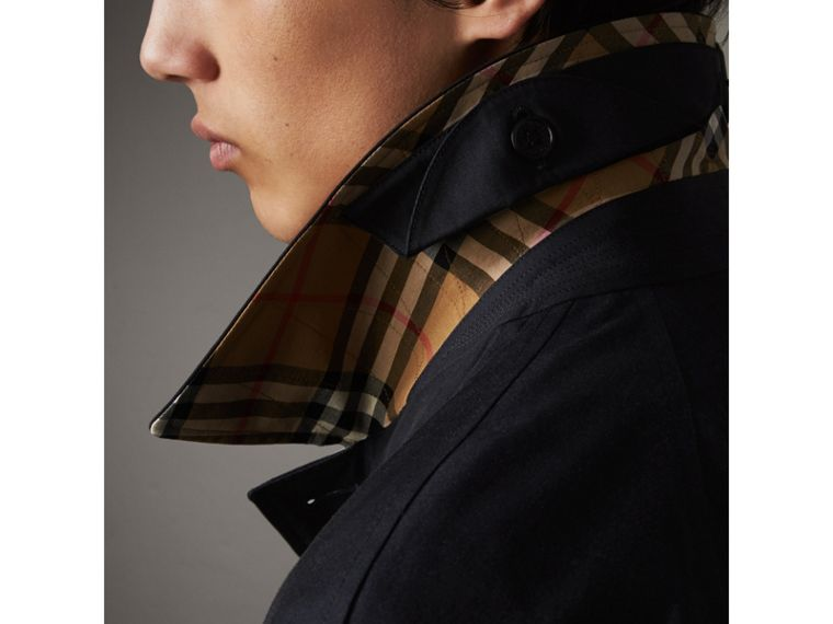 The Brighton – Longline Car Coat in Blue Carbon - Men | Burberry - cell image 1