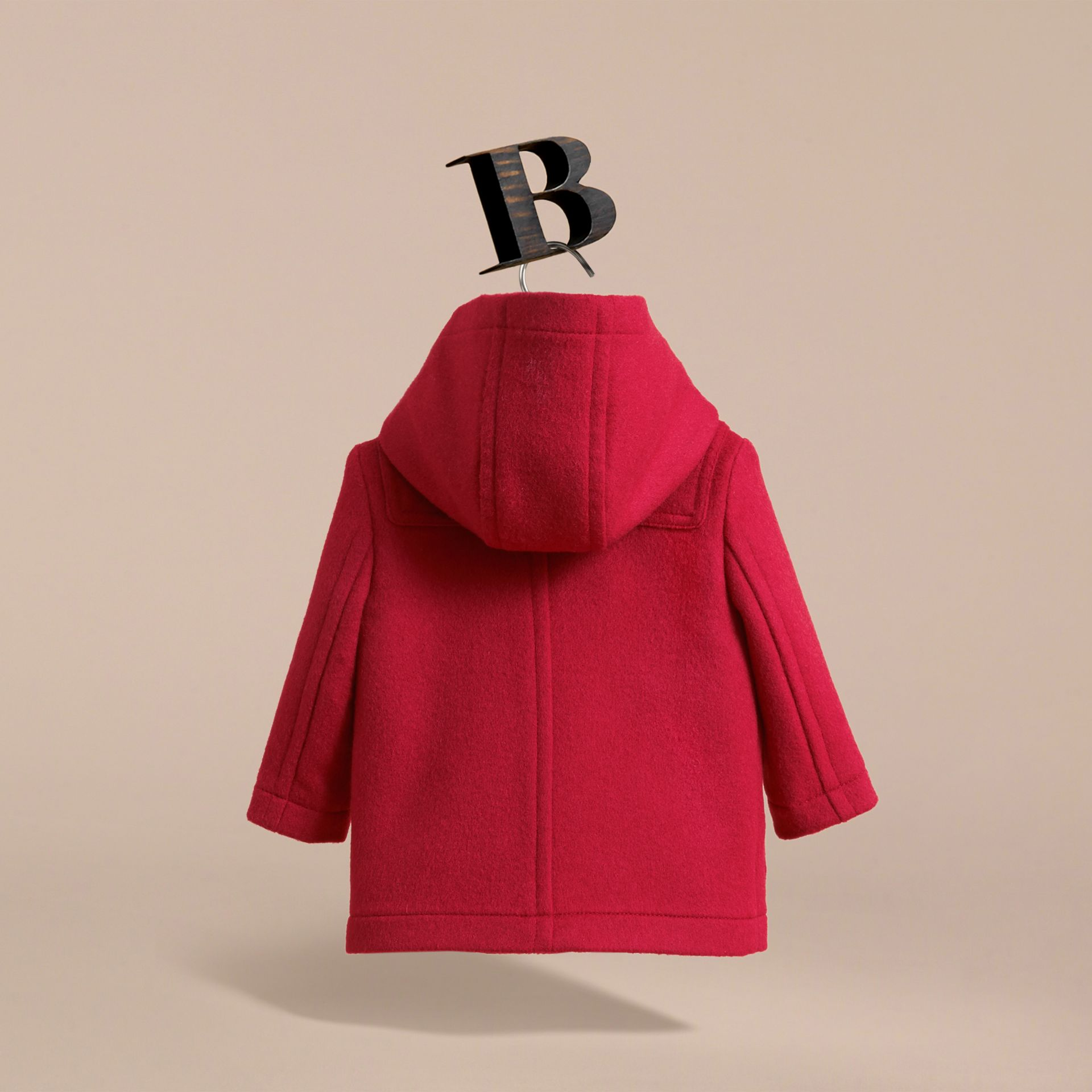 Wool Duffle Coat in Parade Red | Burberry Canada - gallery image 4