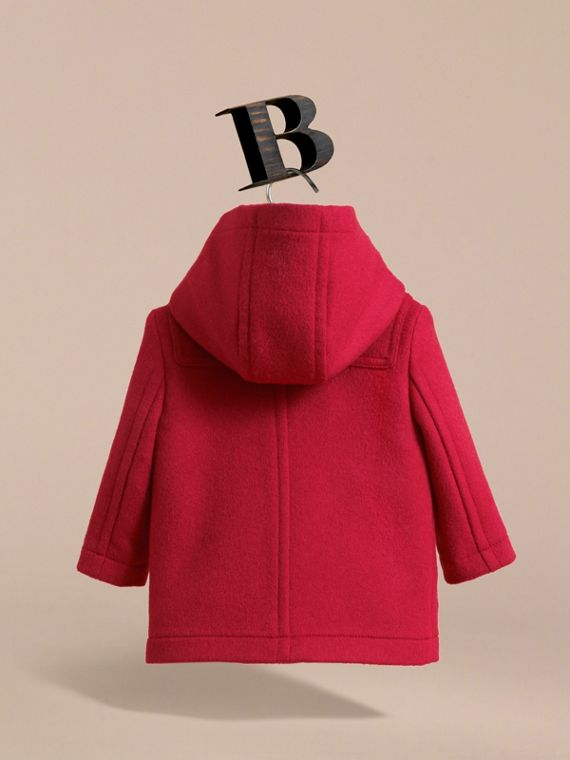Wool Duffle Coat in Parade Red | Burberry Canada - cell image 3