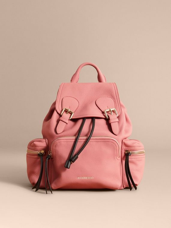 The Medium Rucksack in Deerskin with Resin Chain in Blossom Pink - Women | Burberry