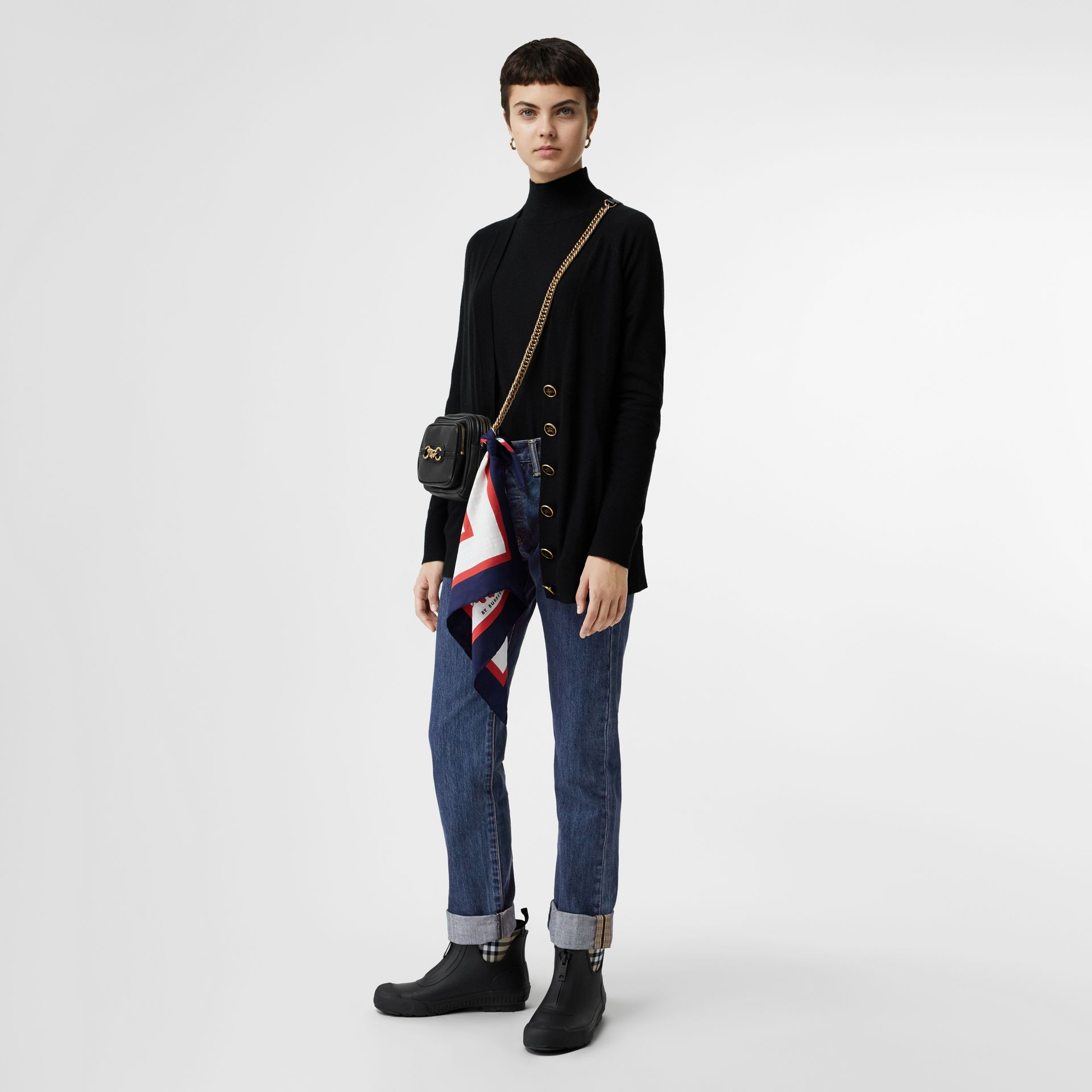 Straight Fit Japanese Selvedge Denim Jeans in Blue - Women | Burberry - gallery image 0
