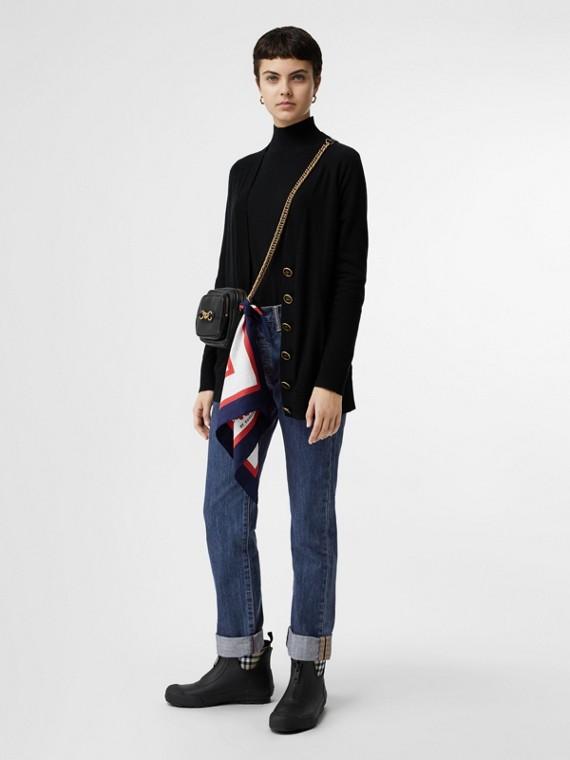Gerade geschnittene Jeans aus japanischem Selvedge-Denim (Blau)