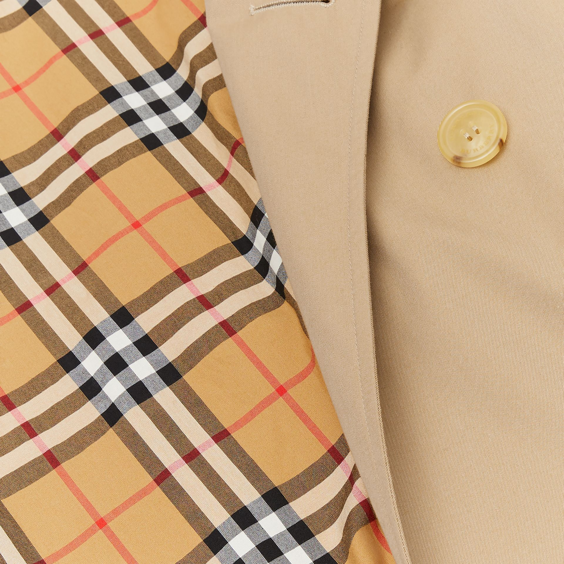The Long Kensington Heritage Trench Coat in Honey - Women | Burberry United States - gallery image 9