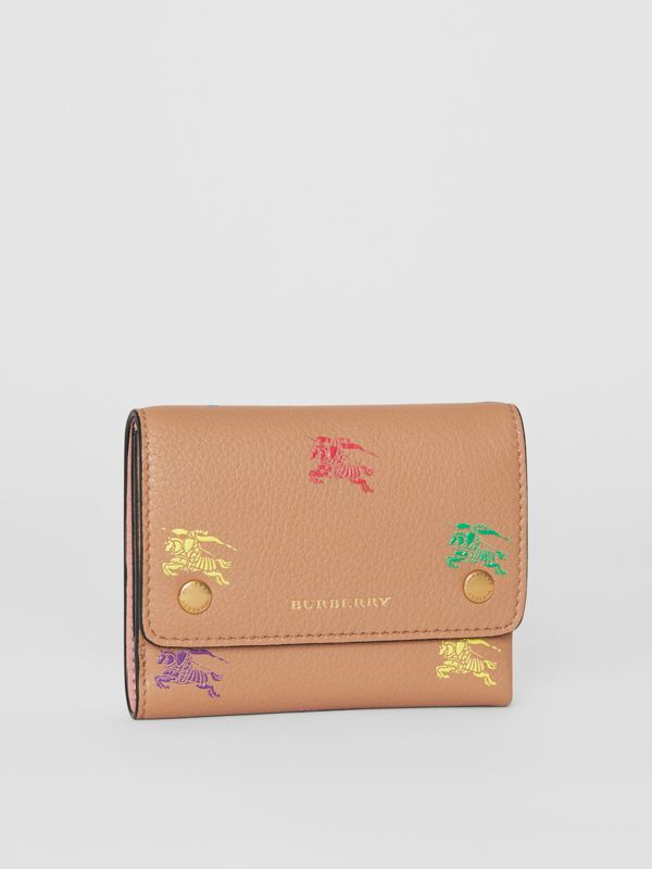 Small EKD Leather Wallet in Light Camel - Women | Burberry Canada - cell image 3