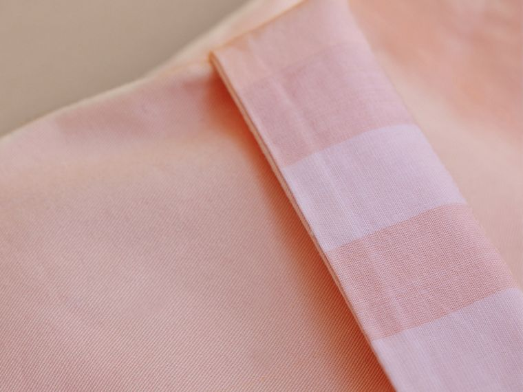 Check Turn-Up Cotton Trousers in Light Pink | Burberry Canada - cell image 1