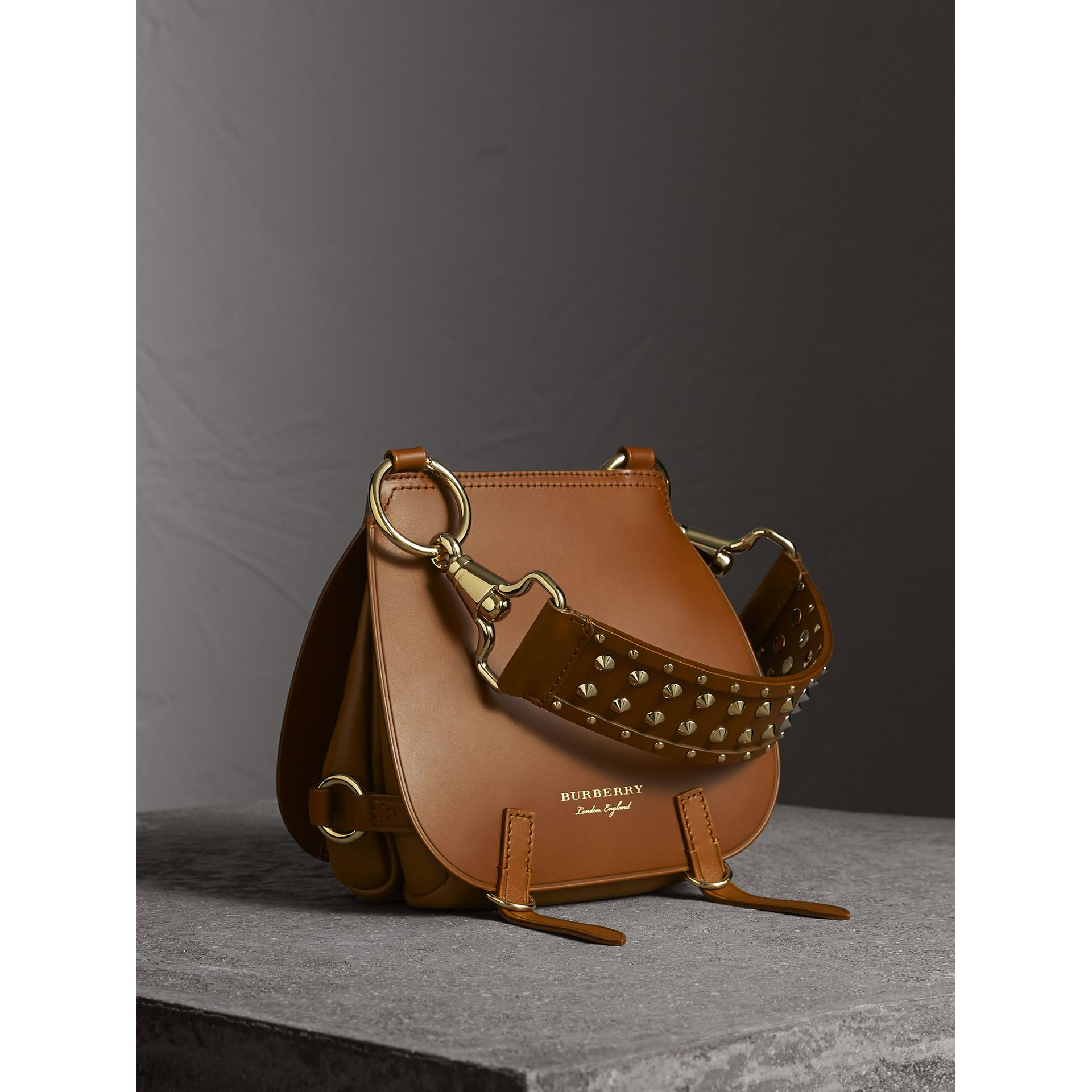 The Bridle Bag in Leather and Alligator in Tan - Women | Burberry - gallery image 1