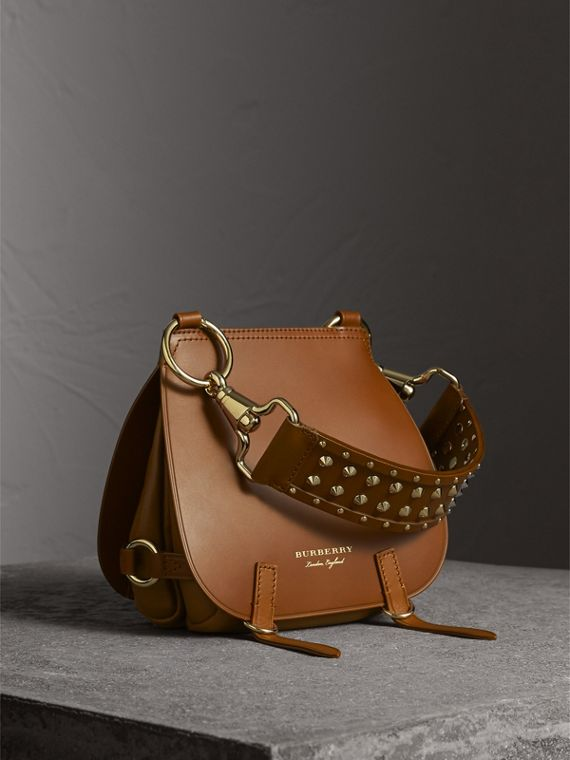 The Bridle Bag in Leather and Alligator in Tan