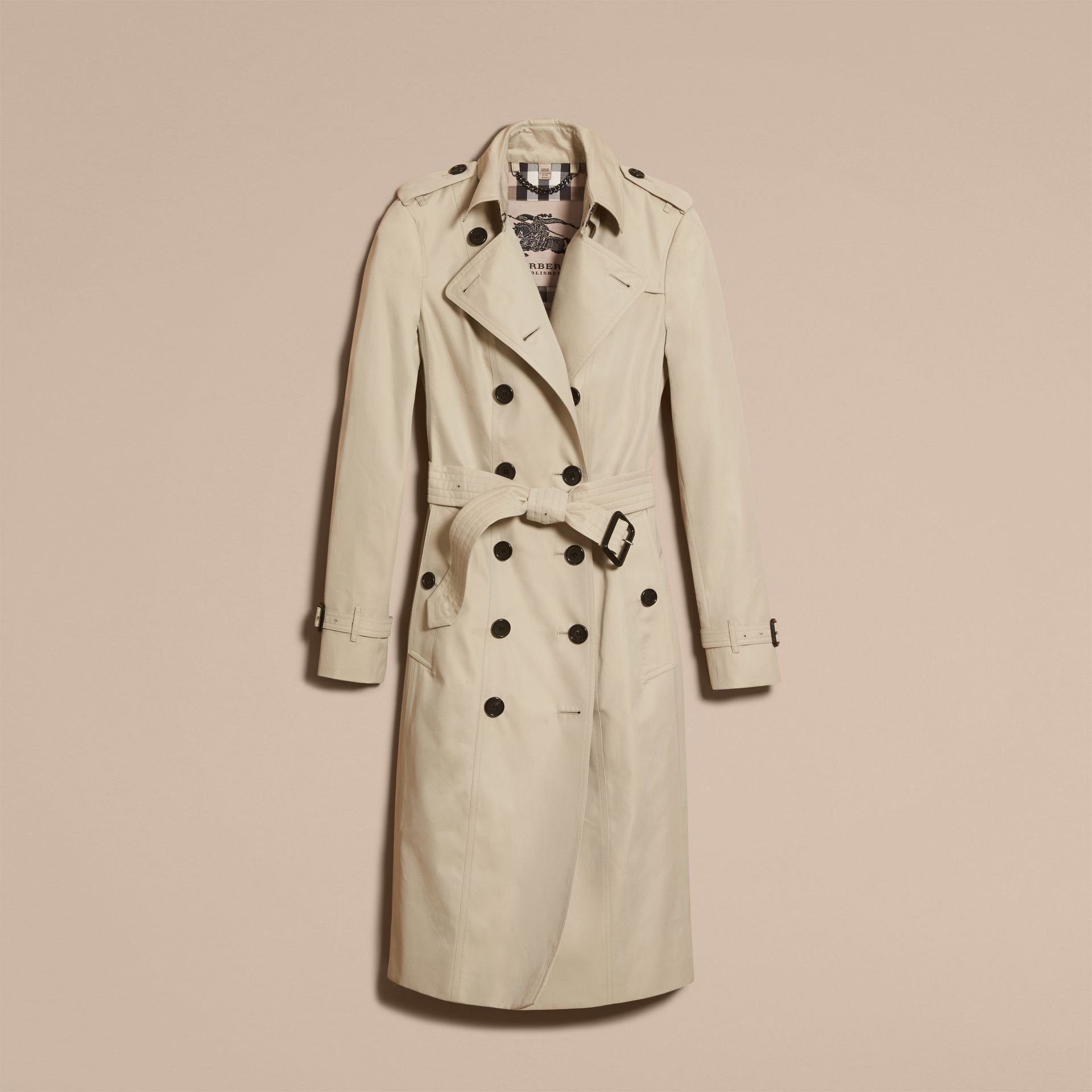 Stone The Sandringham – Extra-long Heritage Trench Coat Stone - gallery image 4