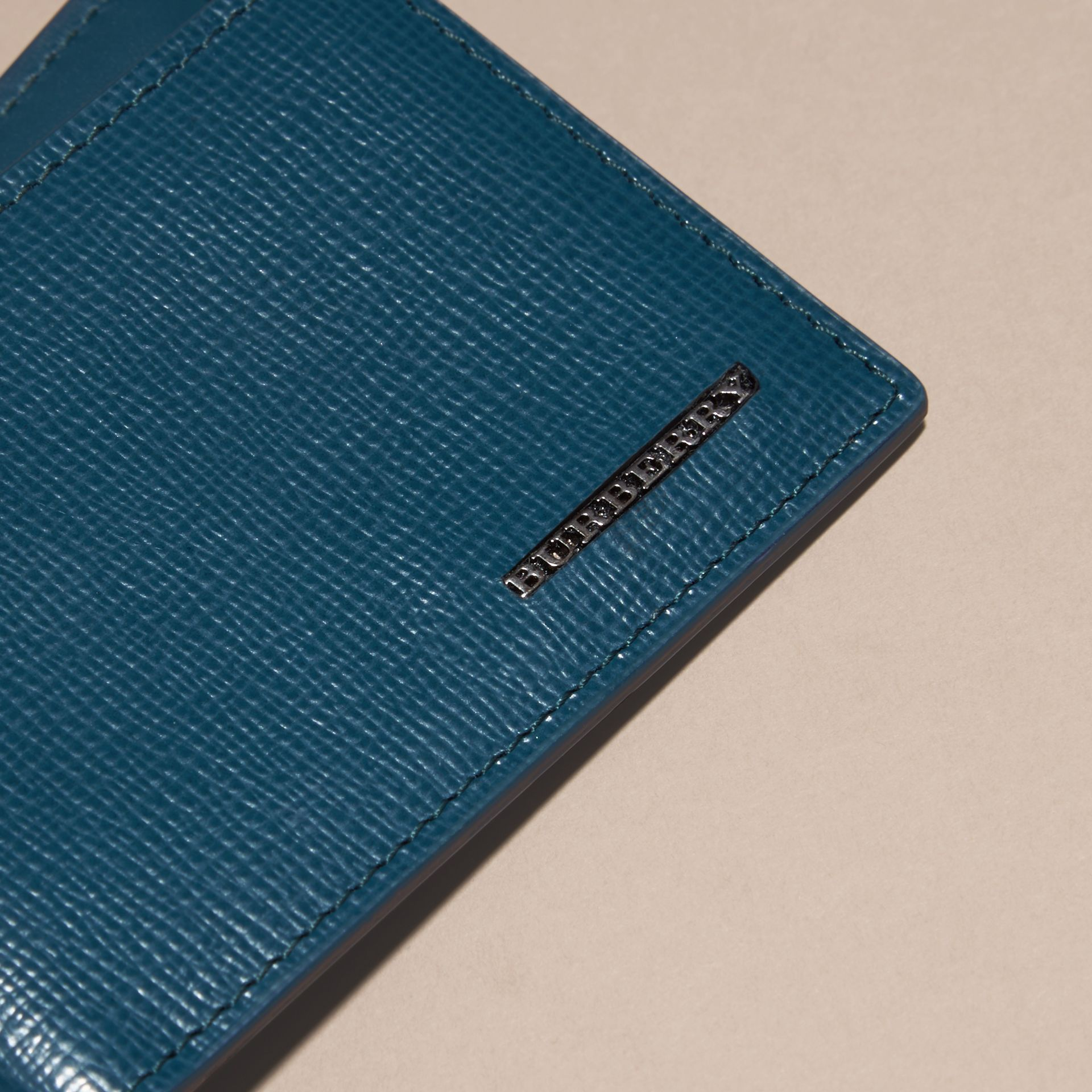 London Leather ID Wallet Mineral Blue - gallery image 2
